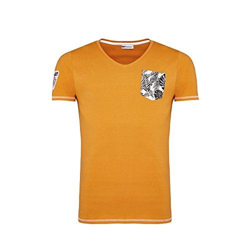 Nebulus T-Shirt Blue Palms schwarz Orange