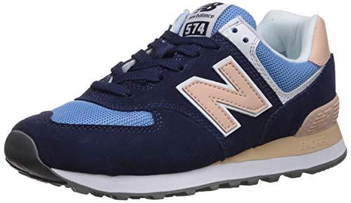 New Balance Damen WL574 B Sneaker, Blau Navy/Pink, 39 EU
