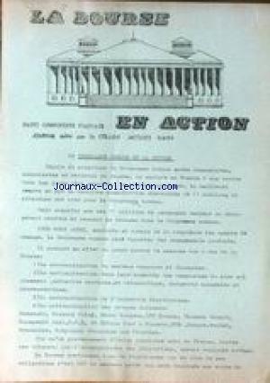 BOURSE (LA) - PARTI COMMUNISTE FRANCAIS EN ACTION - JACQUES KAHN LE PROGRAMME COMMUN ET LA BOURSE