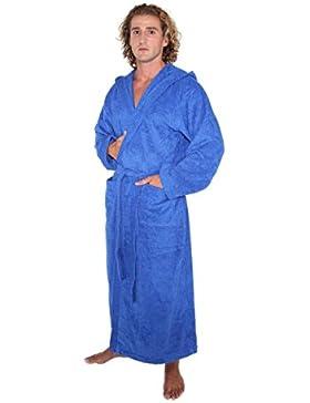 Arus Albornoz con capucha Pacific para hombre y mujer, 100% algodón, peso ligero, extra largo