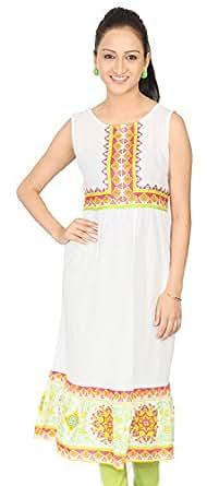 Morpankh Cotton Sleeveless Ladies Long Kurti, Pink