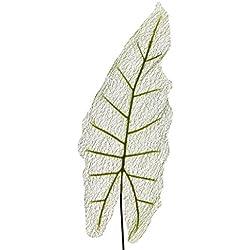 Künstliches ELEFANTEN-OHR BLATT 75 cm. Pfeilblatt feinadrig in grün.