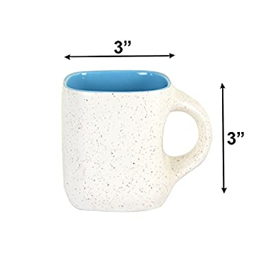 Style My Way Handcrafted White Matte Square Ceramic Mug-Set of 6
