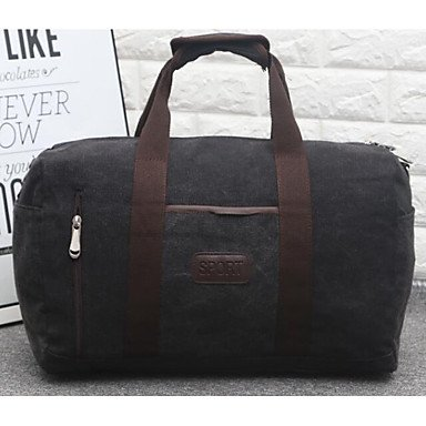 Unisex Tasche Canvas Polyester All Seasons zwanglosen Outdoor Rechteck Reißverschluss Ruby Braun Grau Schwarz Blau Black