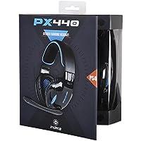 Indeca HS755 Binaurale Diadema Negro, Azul auricular con micrófono - Auriculares con micrófono (Consola de juegos, Binaurale, Diadema, Negro, Azul, PS4, Alámbrico)