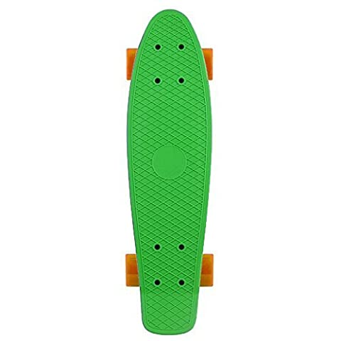 Kingdom Classics Complete Cruiser Skateboard (Green / Orange, 22.5