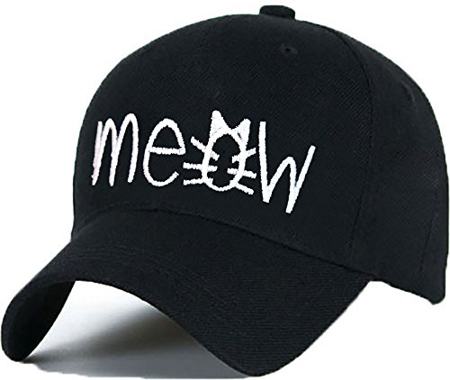 Baumwolle Baseball Cap Caps MEOW FAKE COCAINE CAVIAR Bad Hair Day schwarz with Adjustable Strap Snapback (meow)
