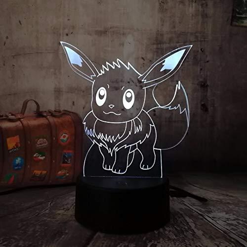 3D Pokemon Go Spiel C Eevee RC USB Spielzeug Nachtlicht Aktion LED Spielzeug Lampe 7 bunte Änderung Kind Geschenk Geburtstag Halloween Xmas Lampe