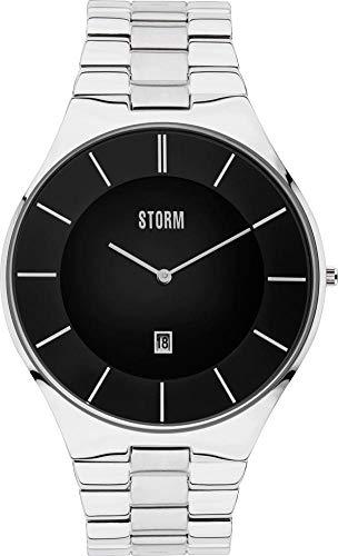 Storm London SLIM-X3 47304/BK Reloj de Pulsera para hombres Plano & ligero