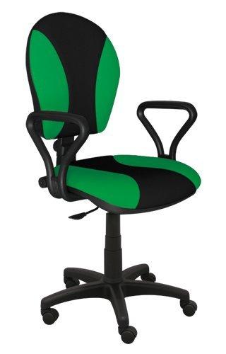 Best For Office Bürostuhl Höhenverstellung Schreibtischstuhl MARKO Modell (GRÜN-SCHWARZ)