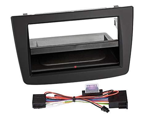 Autoleads FP-09-08 Adaptateur de fa/çade dautoradio Single DIN pour Alfa Mito Noir