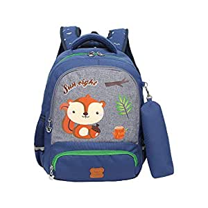 KIDOMATE Polyester Backpack with Pencil Pouch  Boys & Girls 15 Ltrs (Age 2-8 Yrs)