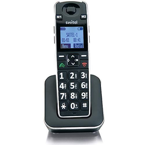 Switel D7010 Vita+ Zusätzliches DECT Mobilteil mit SOS Notruftaste für D7000 Vita+ und alle GAP kompatiblen DECT-Telefone