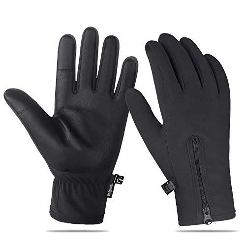 Unigear Guantes de Invierno Super Cálido Impermeable Pantalla Táctil A Prueba de Viento Antideslizante para Acampada y Senderismo Moto Ciclismo Hombre Mujer (L)