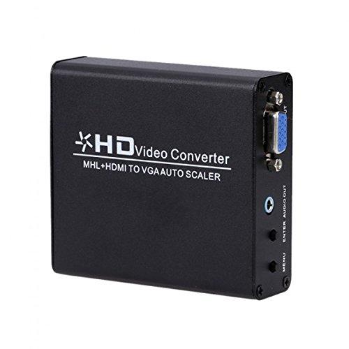 MHL/HDMI zu VGA Konverter Auto Scaler Video Stecker Adapter Digital HDMI zu Analog PC RGB (Auto-video-konverter)