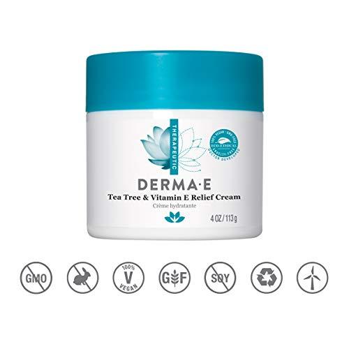 Derma E - Tea Tree and E Antiseptic Creme - 4 oz - Antibakterielle Moisturizing Lotion