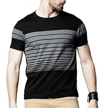 STYLENTO Men's Half Sleeve Round Neck Solid Cotton Tshirt