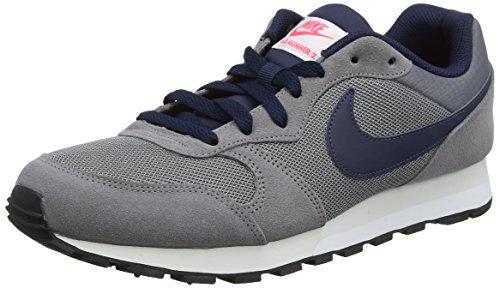 Nike MD Runner 2, Zapatillas de Running para Hombre, Gris (Gun Smoke/Obsidian Hot Punch/Vast Grey 007), 44 EU