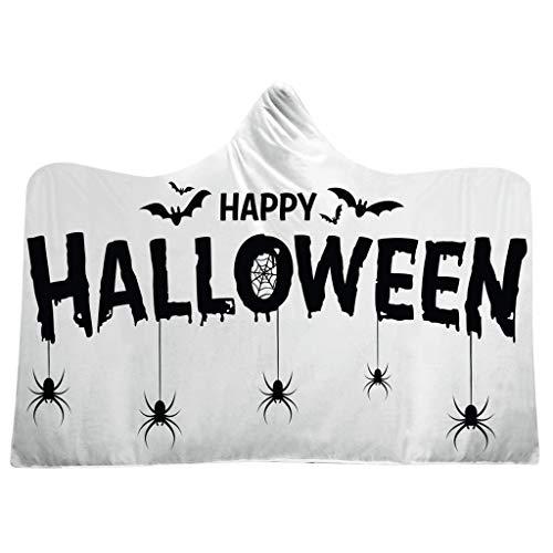 Flanelle Kostüm - Ultraleichte Decke - ideal für Reisen Serria® Kapuzendecke Warme Sofa Weiche Erwachsene Kinder Umhang für Halloween Kostüm Requisiten