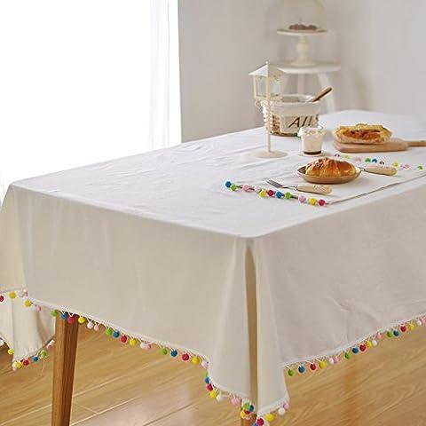 Qingv Nordic wind weiße Bettwäsche Individuelle Farbe flow su Home dekorative Abdeckung Handtuch, Tischdecken, 140 *