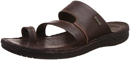 6fadf3060542 32% OFF on Dr. Scholl s Men s Sam Toe Ring Brown Leather Hawaii Thong  Sandals - 8 UK India (42 EU)(8744915) on Amazon