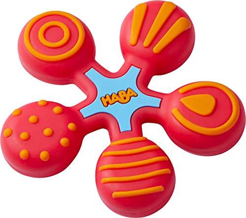 HABA 304290 - Greifling Stern rot, Baby- und Kleinkindspielzeug aus Kunststoff, hilft Babys ab 6 Monaten beim Zahnen, spülmaschinengeeignet