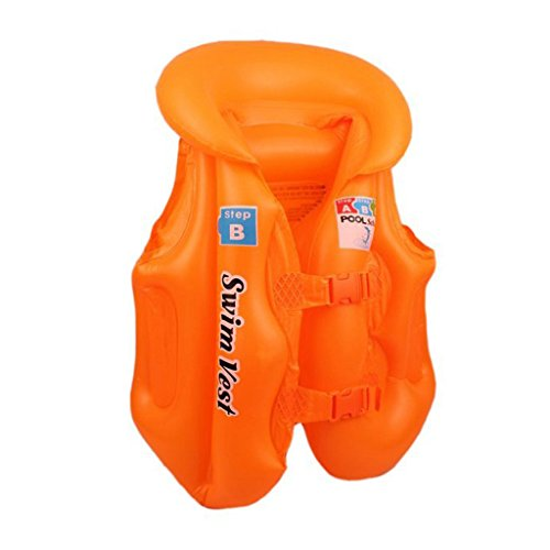 Magideal Kids Baby Float Swimming Aid Life Jacket Inflatable Swim Beach Vest S Orange  available at amazon for Rs.385