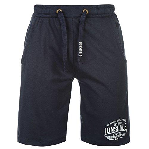 Lonsdale Herren Boxen Leichte Shorts Boxhose Taschen Marineblau XL -