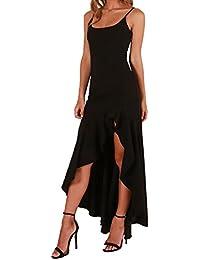 Olprkgdg Frauen Sexy Side Split Formale Abendkleider Party Lange Kleider