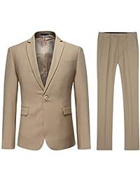 YOUTHUP Costume Homme Formel Slim Fit Deux Pièces avec Un Bouton d affaires  Mariage Veste 248913ba9ab