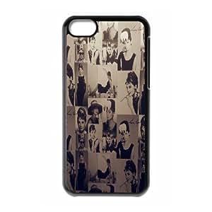 LSQDIY(R) Audrey Hepburn iPhone 5C Case, Custom iPhone 5C Phone Case Audrey Hepburn