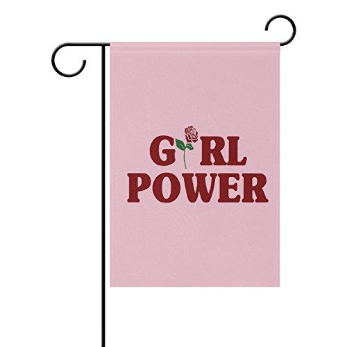 Vinlin Girl Power – Bandera de jardín de doble cara – Bandera decorativa para jardín y hogar, poliéster, 12x18(in)