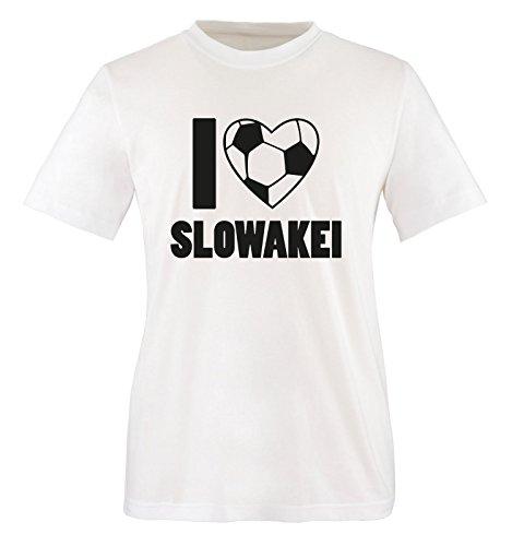 Slowakei Flagge T-shirt (I Love SLOWAKEI - Herren T-Shirt - Weiss/Schwarz Gr. XL)