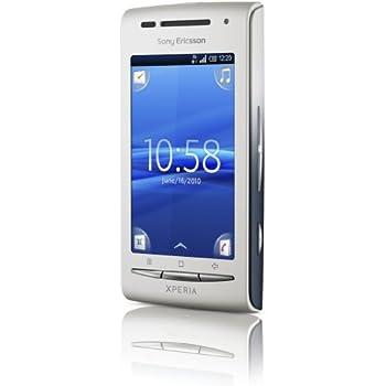 Sony Xperia X8 - Smartphone libre Android (cámara 3.2 MP, 128 MB de capacidad, teclado alemán QWERTZ) color plata [importado de Alemania]