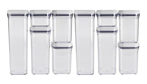OXO Good Grips 10Pop Behälter Set, weiß 1.5 Quart-pop