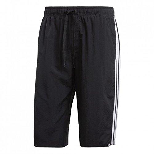 adidas Herren 3-Streifen Classic Length Badeshorts, Black/White, L