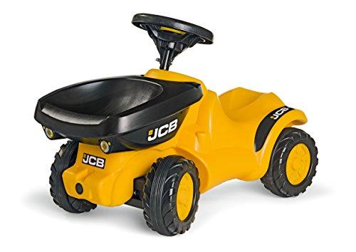 Rolly Toys 135646 rollyMinitrac Dumper JCB | Rutscher mit Flüsterreifen und Hupe | ab 1,5 Jahren | Farbe gelb/schwarz