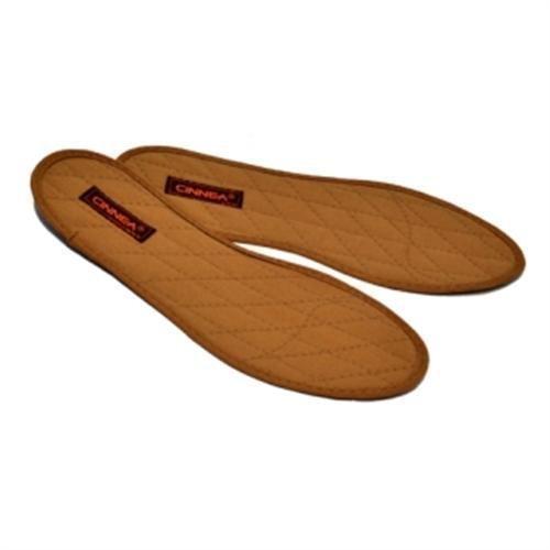 Cinnea Zimt-Einlegesohlen 1 Paar braun Größe 46, Zimt-Sohlen, Zimt-Einlagen, Zimtsohlen für Geruchs KOMFORT im Schuh (46) - Zimt Antibakteriell