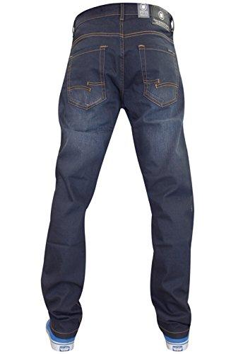 ... Neuen Männer Designer Kreuzschraffieren Coated Denim Jeans Slim Fit  Stretchhose Grey ...