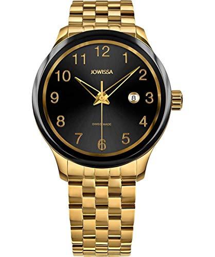 Jowissa Tiro Swiss J4.248.L - Reloj para Hombre, Color Negro y Dorado