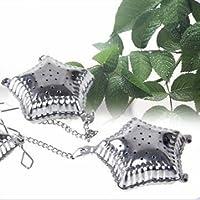 Stainless Steel Mesh Pentagram Spice Herbal Tea Leaf Infuser Strainer Filter