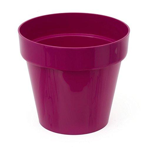 Pot de fleur Cube Shine 2.2 Lt, en fuchsia, violet