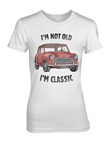 I'm Not Old I'm Classic Vintage Car Damen T-Shirt Weiß XX-Large (Cotton Premium T-shirt Classic Crewneck)