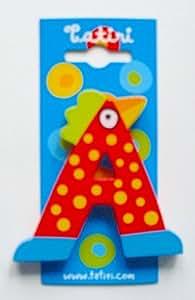 """""""crazy bird"""" Holzbuchstabe """"A"""" ca. 7 cm (farblich sortiert)"""