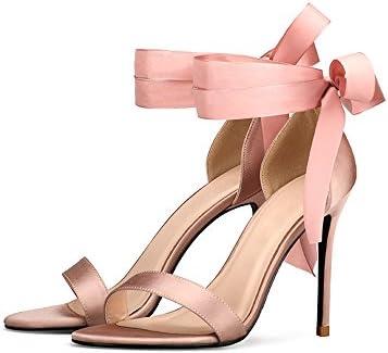ZHANGYUSEN Verano de 2018 Nuevos Zapatos de Tacón Puntilla,40,8cm Color Desnudo