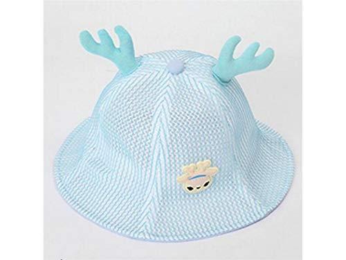 Yyanliii Niedlich Hirsch Kleinkind Mesh Cap Sonnenschutz Baby Hut Fischer Hut für 6-24 Monate (Blau) (Mütze Mesh-gesicht Schild)