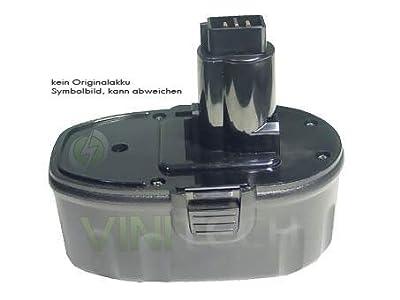 Vinitech Akku als Ersatz für Black & Decker A9282 Ni-Mh 18V 3000mAh