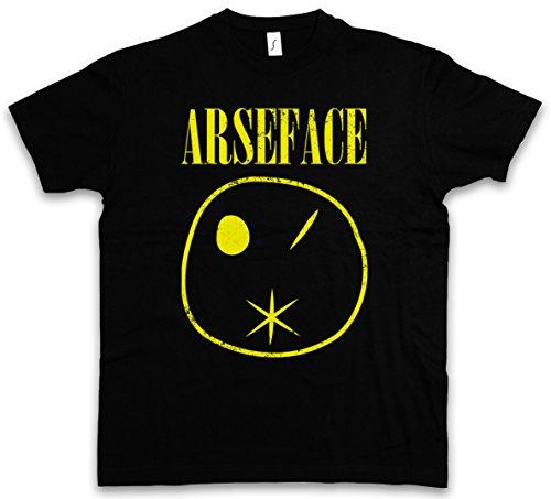 "Urban Backwoods arseface ""J"" T-Shirt TV Garth Cassidy Kurt Eugene Tulip Preacher Comic Root Series Ennis Steve Jesse Dillon Custer Nirvana Cobain Taglie S – 5XL Nero"