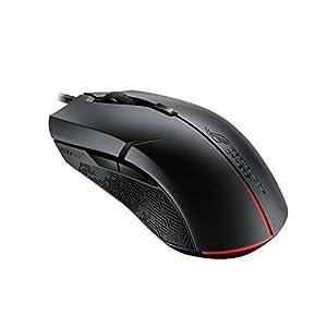 Asus ROG Strix Evolve Gaming Maus (Rechts-/Linkshänder, anpassbare Gehäuseoberseite, Aura Sync RGB Unterstützung…