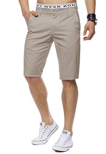 Herren Bermuda-Shorts · (Casual Slim Fit) Knielange Chino-Shorts, einfarbige Sommer Basic-Shorts, Freizeit Capri Kurze Hose, Walkshort in 12 sommerlichen Farben · H1442 in Markenqualität (Shorts Walkshorts)